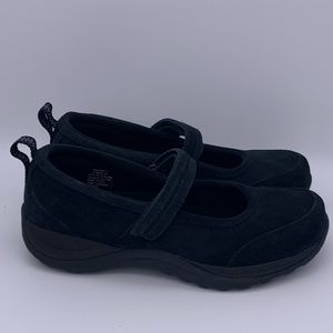 LL Bean suede Mary Jane shoes